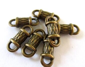 18 Bronze jewelry connectors antique bronze links 6mm x 15mm x 5mm BU836