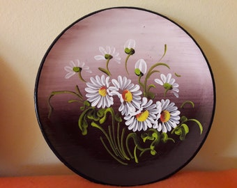 Ceramic handpainted decorative wall plate
