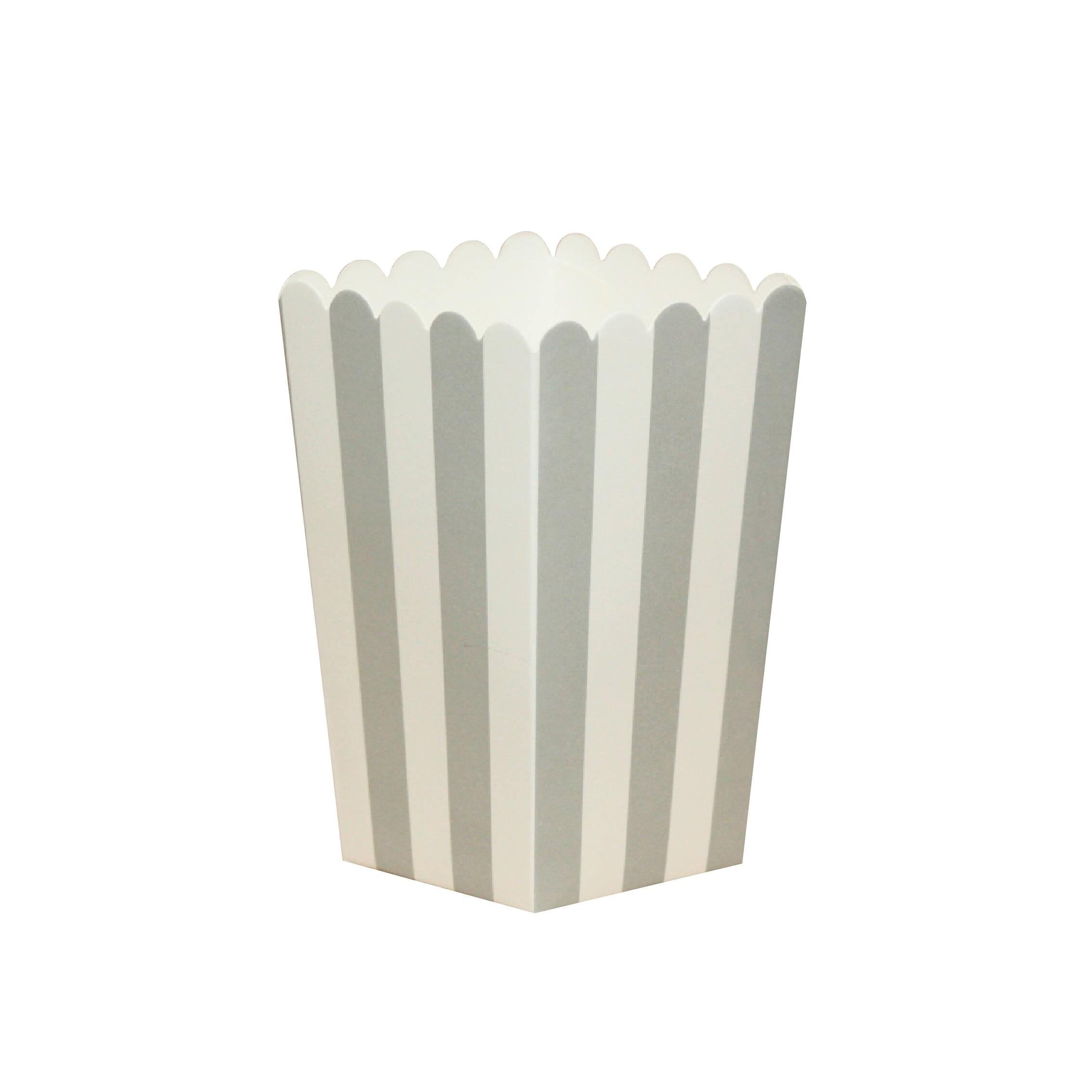 10 Grey Striped Popcorn Boxes Grey Striped Popcorn Scoop Gray ...
