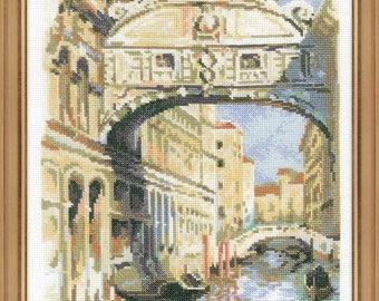 Venice. Bridge of Sighs - Cross Stitch Kit from RIOLIS Ref. no.:1552