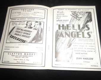 RARE Original 1937 New York Movie Theater Pressbook Herald Hell's Angels, Howard Hughes, Topper, Constance Bennett, Cary Grant, Dead End