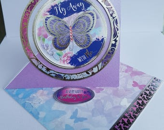 Handcrafted Beautiful easel card.