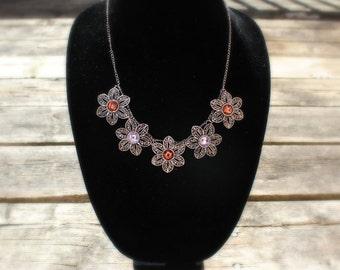 Multi Floral Necklace