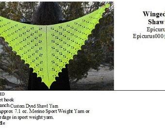 Crochet Shawl Pattern - Winged Victory