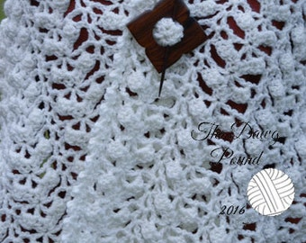 Prayer Shawl Comfort Shawl Hand-Crocheted, Prayer Bolero, Prayer Wrap, Bolero, Shrug, Wrap