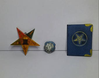 Antique/Vintage Freemason Lot, Order of the Eastern Star, Scarce Items From Masonic Order