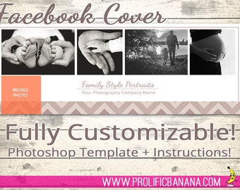 Customizable Facebook Cover Template for Photoshop - Photographers