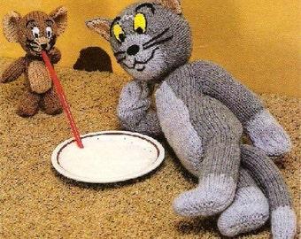 PDF Vintage Tom and Jerry Knitting Pattern – Vintage, Tom and Jerry - PDF instant download