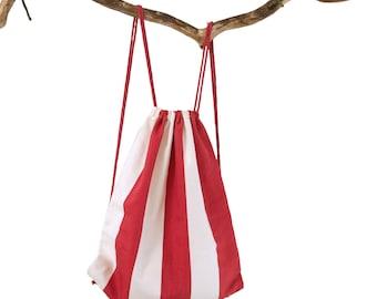 Turn bag stripes Red-white