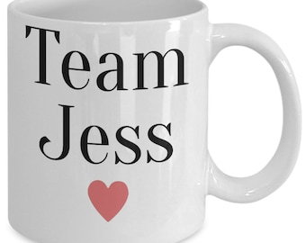 Team Jess Gilmore Girls Mug (White) 11oz Gilmore Girls Coffee Mug - Gilmore Girls Gift Cup - Stars Hollow Luke's Diner Mug