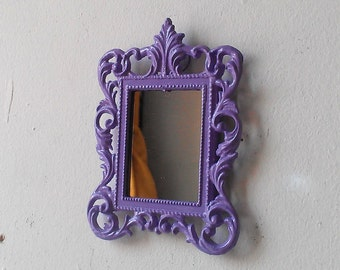 Miniature Mirror, Dollhouse Wall Decor, Lavender Nursery, Small Gift Ideas, Pastel Goth, Purple Home Decor, Wall Collage, Office Cubicle