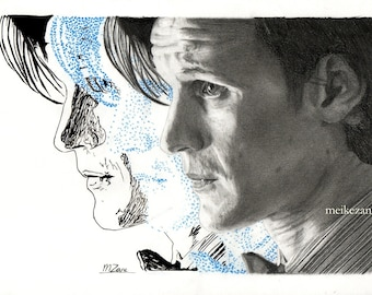 Drawing print Doctor Who / Matt Smith - A4