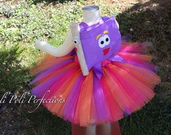 Dora the Explorer Tutu Dress & Backpack, Dora Tutu Dress, Dora and Map Set, Dora Tutu, Dora Tutu Costume