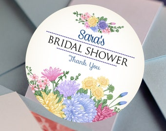 Bridal Shower Stickers, Custom Bridal Shower Labels - Round Bridal Shower labels - Thank You Stickers - Bridal Shower Candy Stickers