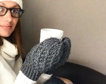 Crochet Pattern, Crochet Mitten Pattern, The Stevie Mittens,  Mitten Pattern,  Crochet, Mittens, Pattern, Cabled Mitten, Crochet Cables,