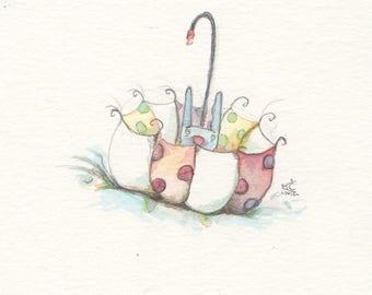 Bunny Umbrella Print