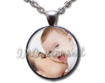 Photo Custom Personalized - Round Glass Dome Pendant or with Necklace by IMCreations - WD107