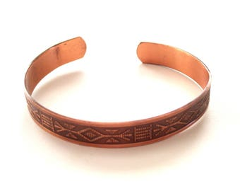 Southwestern Tribal Cuff, Vintage Copper Cuff, Copper Cuff Bracelet, Tribal Copper Bracelet,  Vintage Copper Jewelry