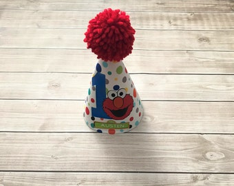 Personalized Elmo Birthday Party Hat