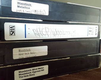 Woodstock 1994 VHS pack // Red Hot Chili Peppers // Metallica // Blind Melon // Cypress Hill // Nine Inch Nails // FREE SHIPPING in the Usa