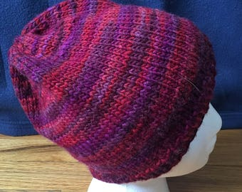 Red and Purple Striped Hat
