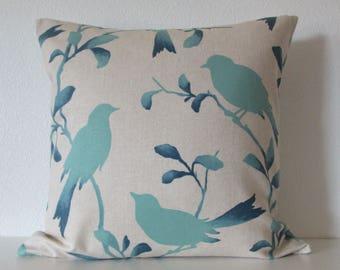 Pillow Cover - Blue - Bird - Ombre - Rockin' Robin Breeze - Decorative - Cushion Cover