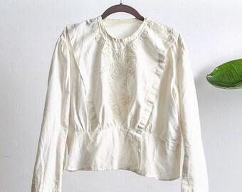 Lovely cotton Edwardian soutache blouse