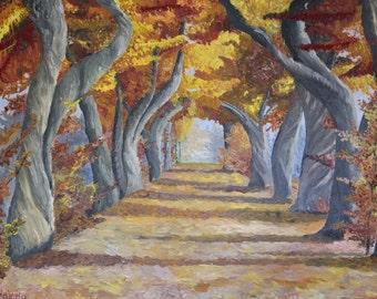 Mysterious autumn - original oil painting