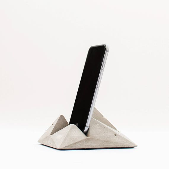 Modern smartphone stand - Concrete tablet stand - Modern ipad holder -  Concrete iPhone holder - Cell phone stand - Modern tablet holder