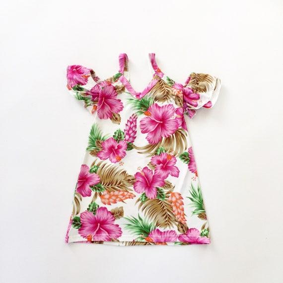 tropische Kleid Hawaii Kleid Mama und mich outfits Mama und