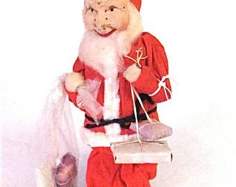 Vintage Shackman Santa Claus Doll Japan 1940