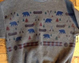 Vintage Glacier Park Montana fleece sweatshirt