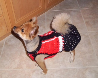 PRANCING PAWS SKIRTTER - Dog sweater dress - 2 To 20 Lb Dogs- Made to order