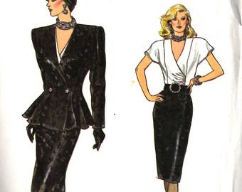 Vogue 9683 Jacket, Skirt, and Blouse Sewing Pattern Size 6