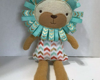 Ribbon Tag Lion Softie