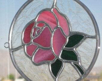 Pink Rose Sun Catcher