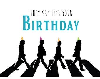 Beatles cards etsy beatles birthday card bookmarktalkfo Choice Image