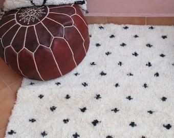 beni ourain rug, dots and pluses rug, soft rug, Moroccan Rug, bedside rug, Nursery rug, super fluffy rug, birthday gift, housewarming gift
