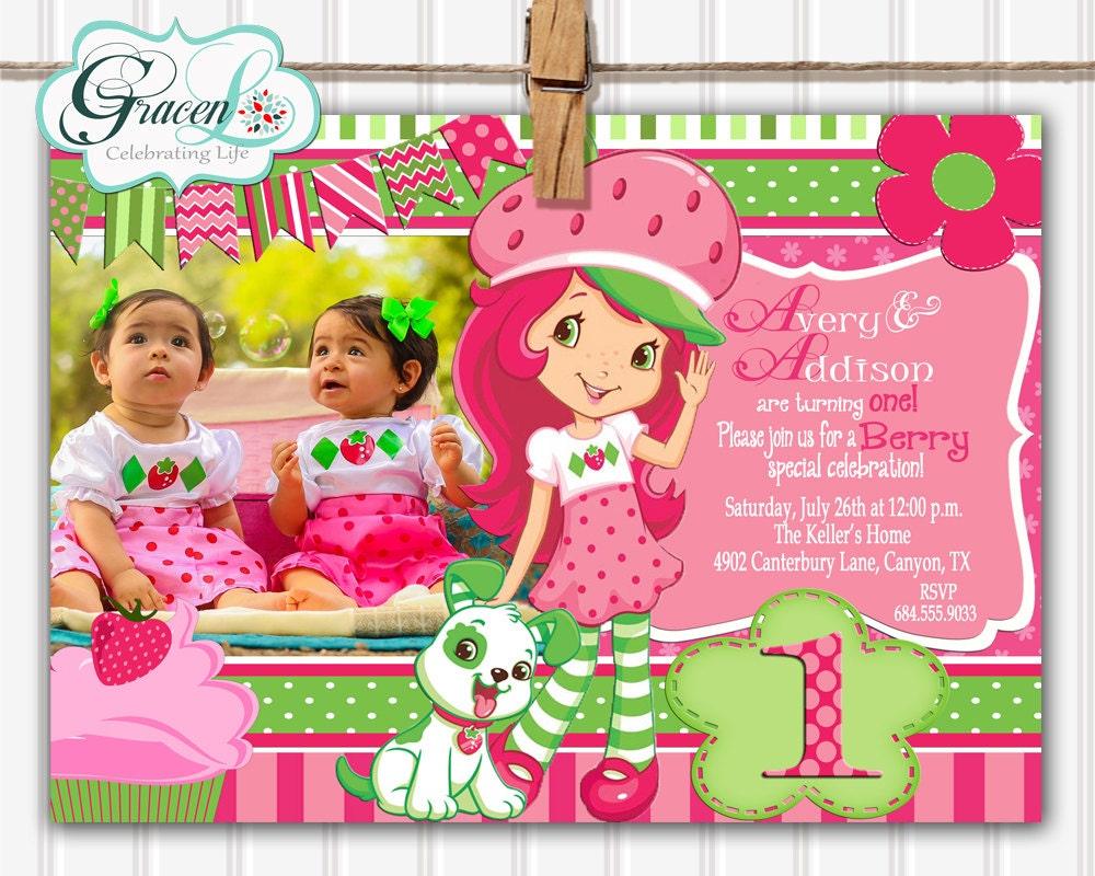 Strawberry Shortcake Invitation Shortcake Invitation