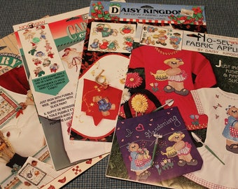 No-Sew Fabric Applique ~ Daisy Kingdom ~ Fabric Decorating ~ Clothing Enhancements ~ Quick, Easy and Creative Embellishments from 1990's