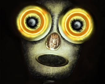 Steampunk Robot - Afraid of the Dark