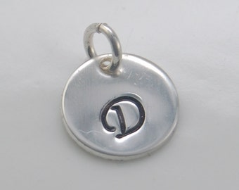 Sterling silver initial charm, Personalized charm