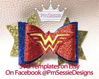 Digital SVG, DXF Wonder Woman Inspired Bow Template