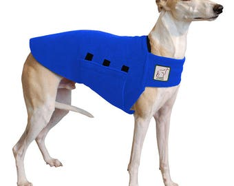 WHIPPET Tummy Warmer, Fleece Dog Coat, Fleece Dog Sweater, Sweater for Dogs, Whippet Coat, Dog Clothing, Dog Clothes, Dog Accessories, Shirt