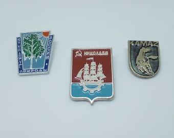 Soviet vintage badges