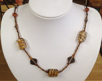 Handmade Neutral Tone Necklace