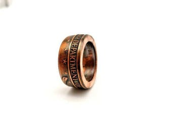 United States Air Force military challenge coin ring. Made from pure.999 copper