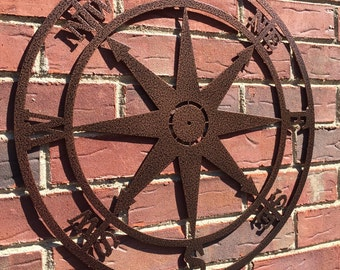 More Colors. Nautical Compass Wall Art  Metal ...