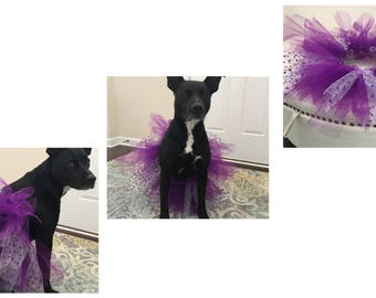 Purple polka dot tutu