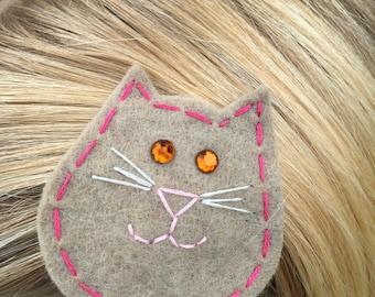 Cat Felt Hair Clip